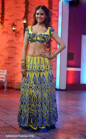 Isha Gupta Lemon Bollywood Lehenga | Veeshack Shop
