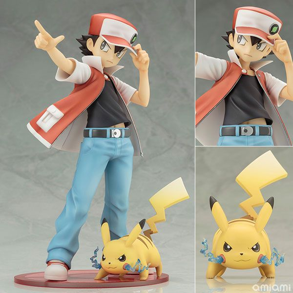 "AmiAmi [Character & Hobby Shop] | ARTFX J ""Pokemon"" Series - Red with Pikachu 1/8 Complete Figure(Pre-order)"
