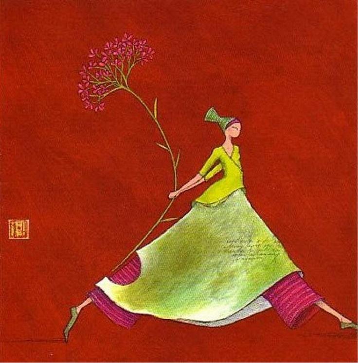 Pink flower - Gaelle Boissonnard
