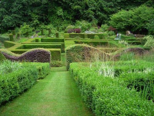 Ornamental Garden, vorn im Bild die zweifarbige Buchenhecke