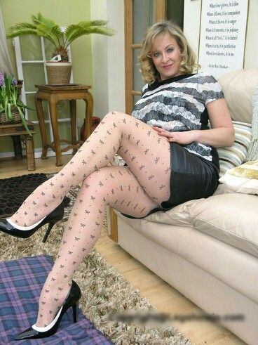 German woman in pantyhose