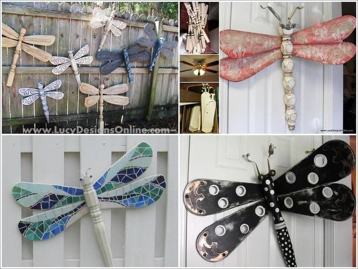 Table Legs and Fan Blades Made These Dragonflies