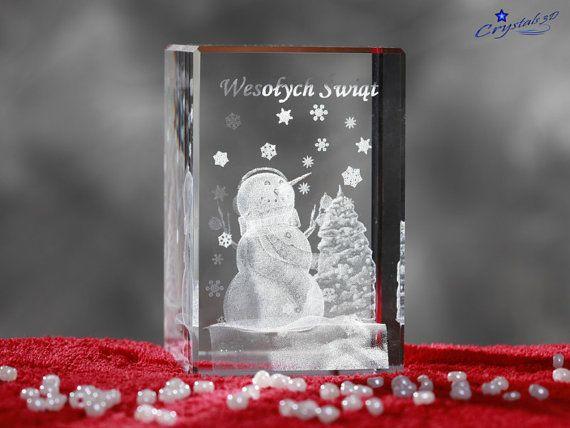 Snowman in Crystal Crystal snowflakes by Crystals3DEngraving
