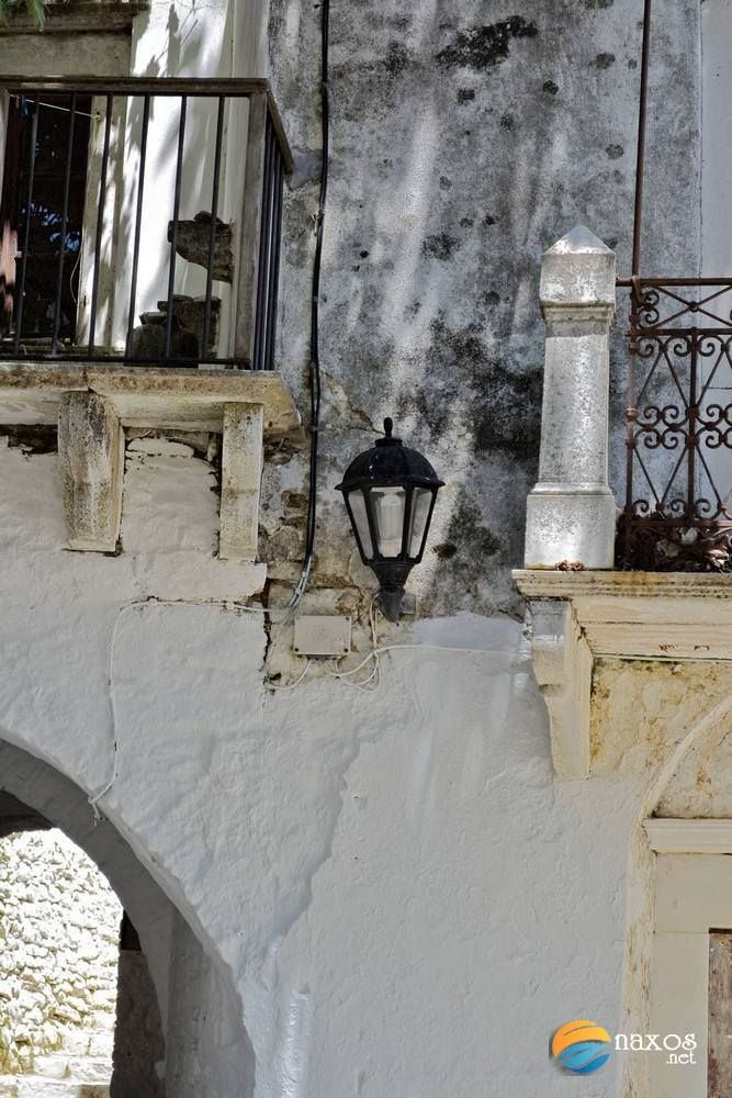 Closeup photo of the traditional architecture of Apeiranthos village of Naxos, Greece. http://tinyurl.com/oexf3zv