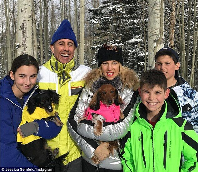 Jerry Seinfeld with wife and kids | Daily Mail Online