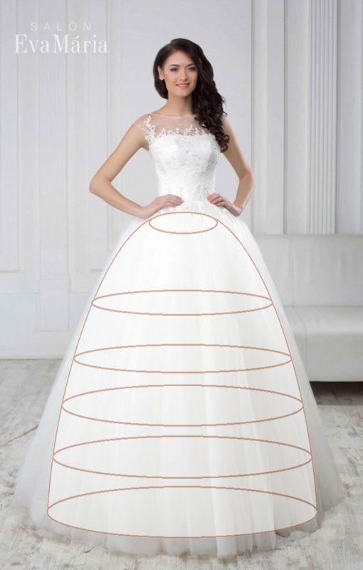 Spodnička pod tortové princeznovské svadobné šaty