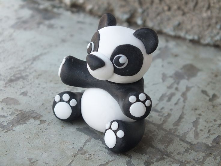 Panda handmade from polymer clay