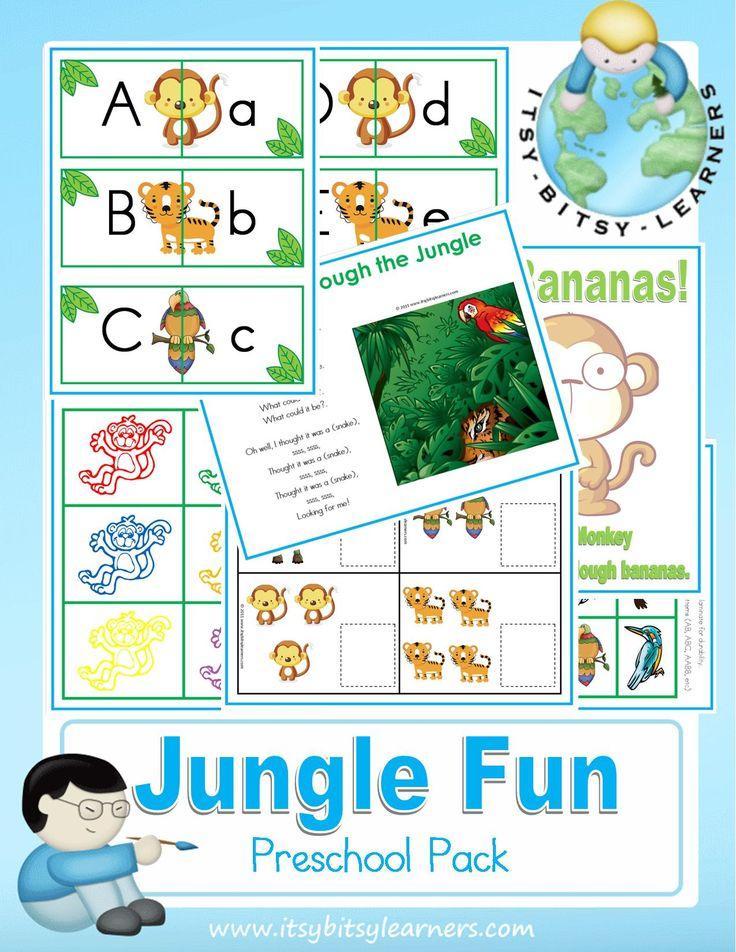 Jungle Animals Coloring Pages Preschool : 32 best preschool zoo images on pinterest