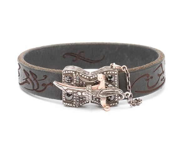 Sevan Bicakci, black diamond, rose gold, leather bracelet  www.dresscodebygita.com