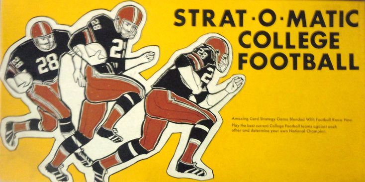 Old StratOMatic College Football Game Box Products I