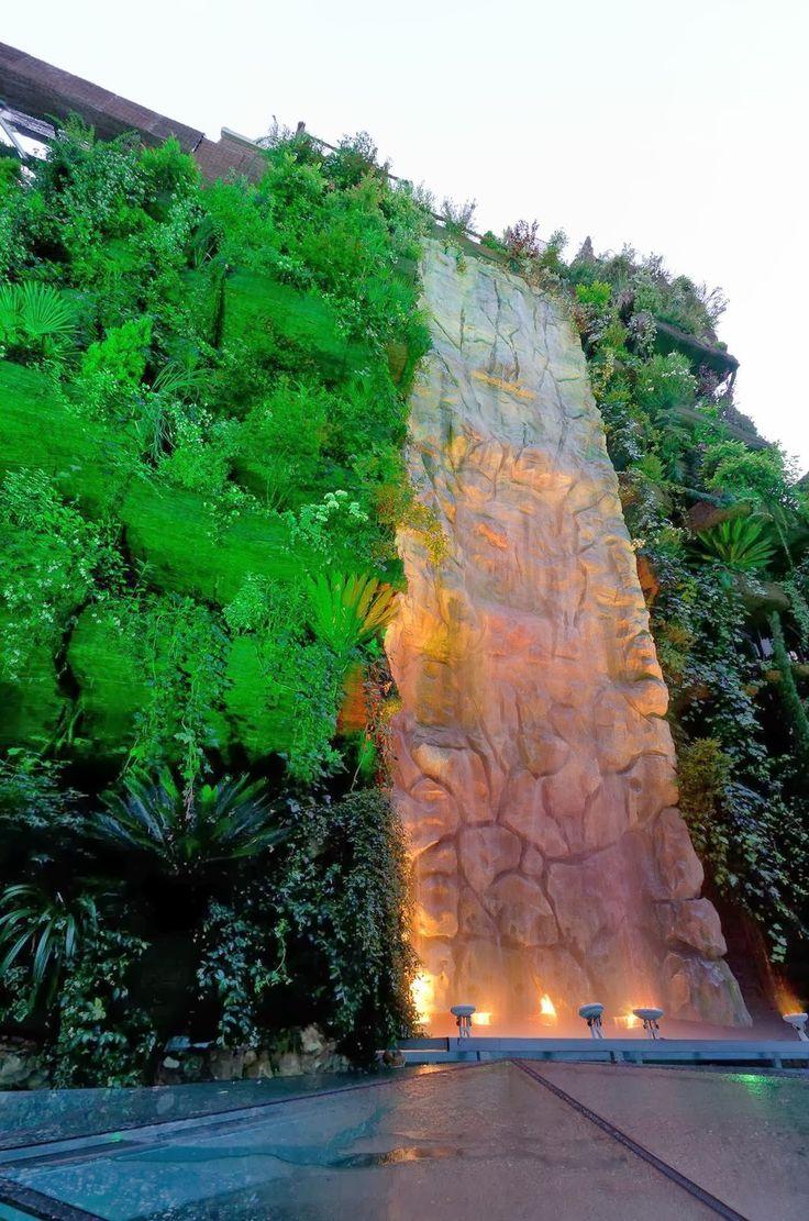 World Highest Waterfall in a vertical garden. Madrid. Spain