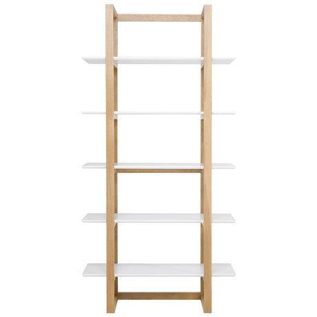 Stockholm Bookcase 200cm  White/Oak