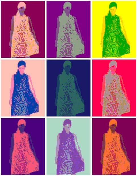 Warhol fun. 1960s trapeze dress x