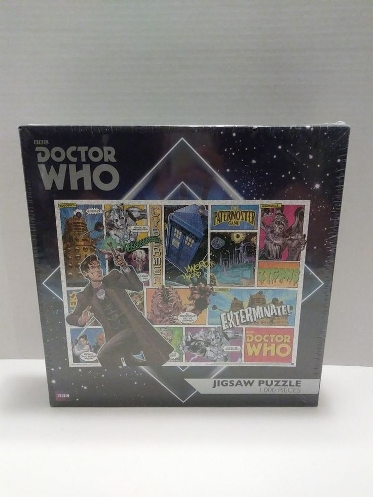 BBC Doctor Who Jigsaw Puzzle 1000 Piece Rare Comic Book Illustrated Style New Dr