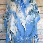 Купить или заказать Шаль ' Английские розы' войлок в интернет-магазине на Ярмарке Мастеров. Тонкий, необыкновенно нежный войлок ( 16мкн) украшен цельноваляным объемным декором из натурального шелка . Шаль прекрасно драпируется, необыкновенно нарядна и изыскана...