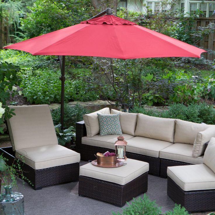 Treasure Garden 10 ft. Obravia Cantilever Octagon Offset Patio Umbrella Obravia Mocha - AG19-00-4825