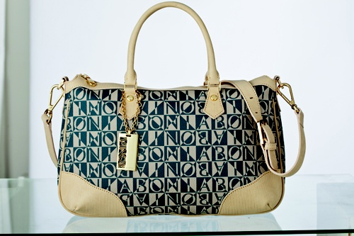 Monogram shoulder bag by Bonia $420