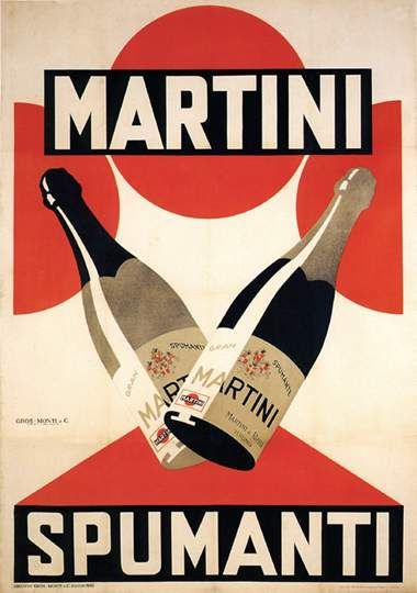 80b58dcffd831451ef2584c06c82489a--vintage-advertising-posters-retro-posters Vintage Advertising : Spumante #Martini Anni '20 BOTTIGLIE VINI SPUMANTI MARTINI
