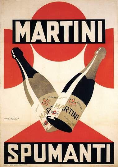 Spumante Martini Anni '20 BOTTIGLIE VINI SPUMANTI MARTINI