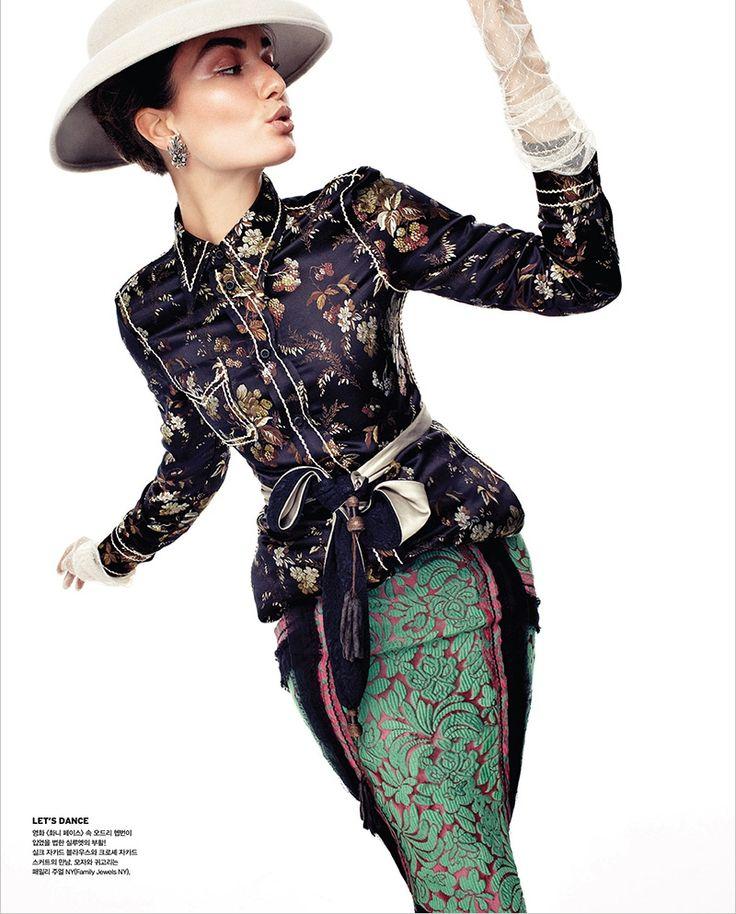 Andreea Diaconu by Alexi Lubomirski for Vogue Korea February 2015 - PRADA Spring 2015