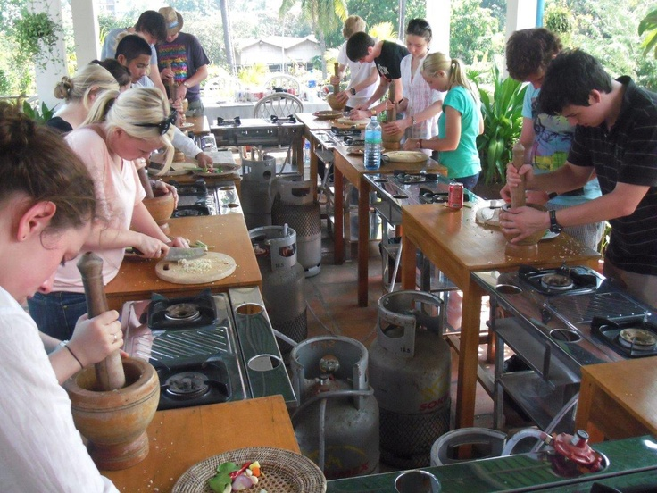 A hands-on cooking class