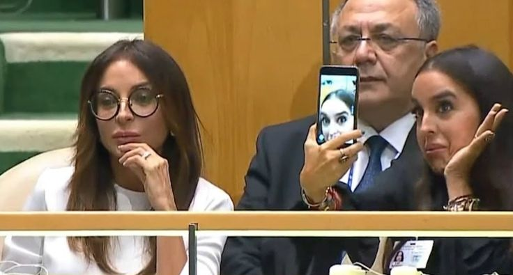 Daughter Of Azerbaijani President Takes Selfies During UN Speech About Genocide