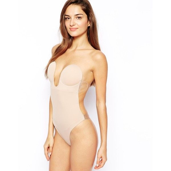 Fashion Forms U Plunge Backless Strapless Bodysuit ($54) ❤ liked on Polyvore featuring intimates, shapewear, underwear and nude