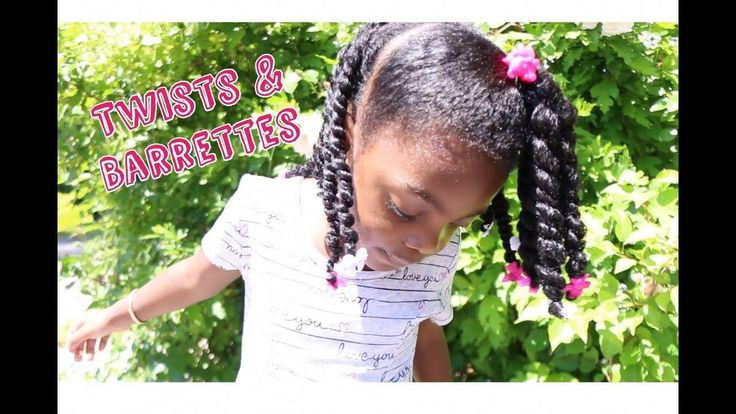 Twists & Barrettes | Natural Hair Tutorial for Girls ft As I Am Born Curly – You…