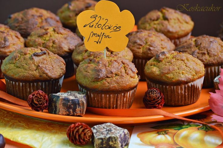 Koskacukor: Sült sütőtökös muffin
