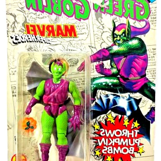 This Pin was discovered by rew Ruiz. Discover ( save!) your own Pins on Pinterest. MARVEL SUPER HEROES GREEN GOBLIN Vintage Toy Biz 5  Action. Vintage 1994 Marvel Green Goblin 5  Action Figure Spider Man Animated Series. #hero #kids #SpiderMan #toys #Marvel #figurines #Collectibles #gifts
