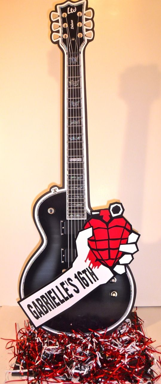 Decoration Theme Guitare : Rock star themed sweet decorations green day