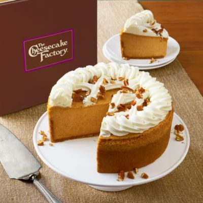 When you've been in the business as long as we have, you know something good when you see it. That's why we're excited to be the exclusive online vendor of The Cheesecake Factory®'s cheesecakes. We can only think of one thing better than pumpkin pie and cheesecake. And that's this Pumpkin Cheesecake.
