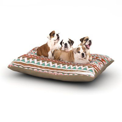 "East Urban Home Nika Martinez 'Boho Mallorca' Dog Pillow with Fleece Cozy Top Size: Large (50"" W x 40"" D x 8"" H)"