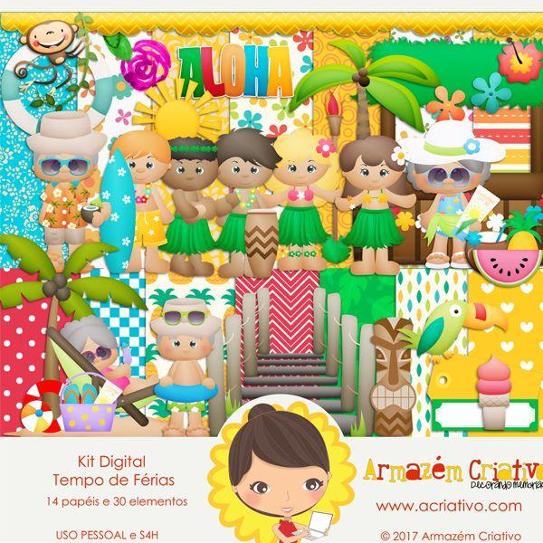 🌟{Lançamento}🌟 Kit digital Tempo de férias Clique para comprar >> goo.gl/vgdg0H