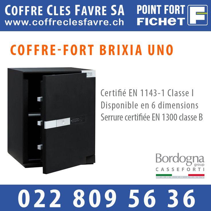 BRIXIA UNO est un coffre-fort à poser certifié selon la norme européenne EN 1143-1 en Classe I et disponible en 6 dimensions. #pointfortfichet #geneve #coffrefort #securite