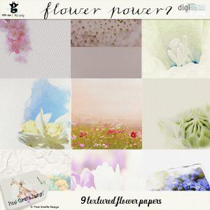New release: beautiful textured flower themed papers!