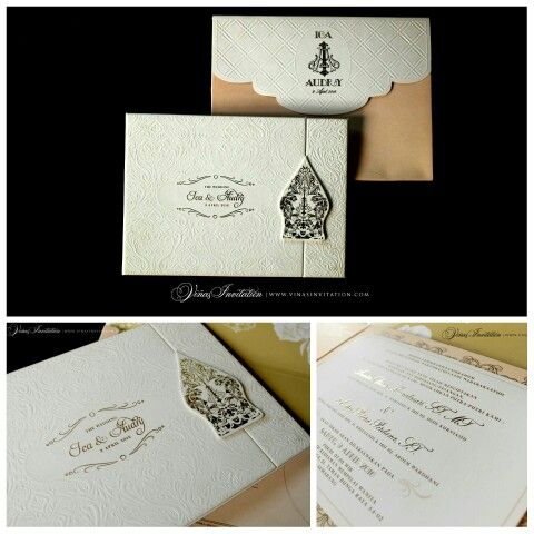 Vinas invitation. Modern wedding invitation. Australia invitation. Sydney wedding. Indonesia wedding. Simple elegang. White theme. Any question pls visit us at website www.vinasinvitation.com . Courtesy of Ica and Audry.