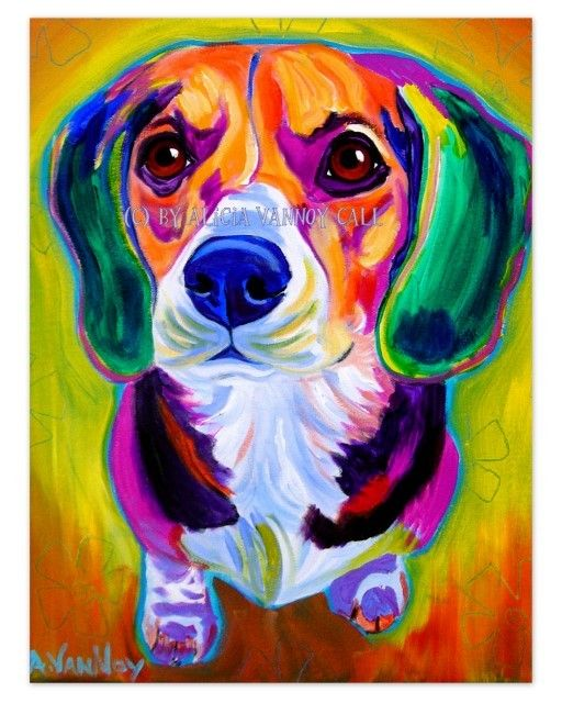 Dachshund pet portrait dawgart dog art pet portrait for Dog painting artist