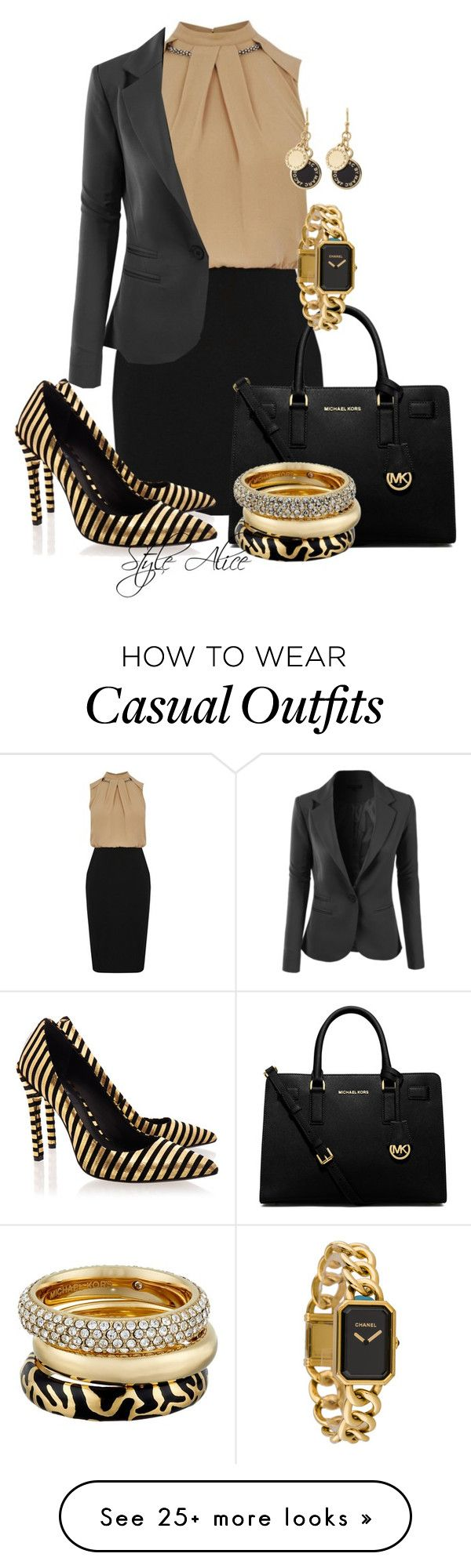 """Casual"" by alice-fortuna on Polyvore featuring Oasis, LE3NO, MICHAEL Michael Kors, Rachel Zoe, Michael Kors, Marc by Marc Jacobs and Chanel"