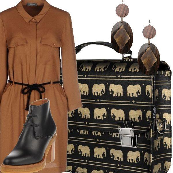 Rientro a scuola per le insegnanti che vogliono stupire i loro bambini con una borsa tempestata di elefanti :-) abito comodo adatto a mille movimenti e stile sempre a portata di mano. buon lavoro!