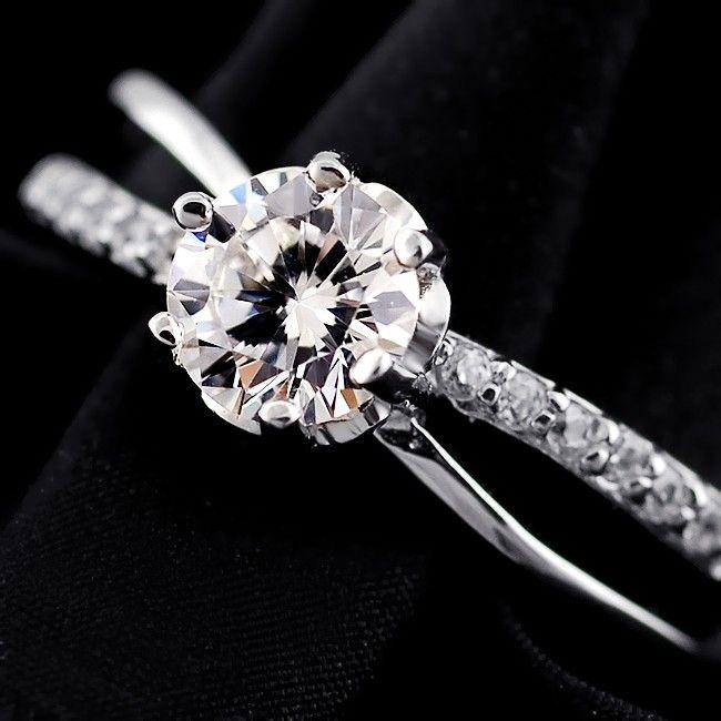 NOBLAG 0.14 CT SOLID SILVER ZIRCONIA WEDDING RING