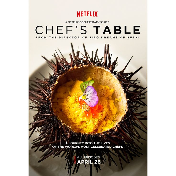 Sea urchin featured in an upcoming episode of Netflix's new series Chef's Table © Netflix