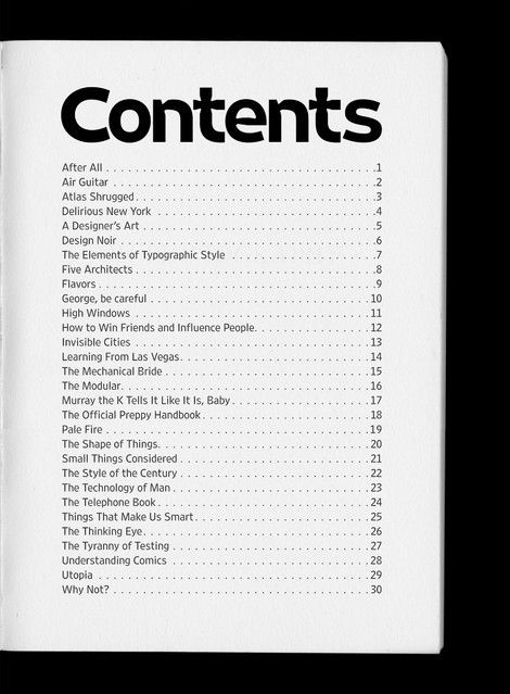 Table of Contents: Creative Examples