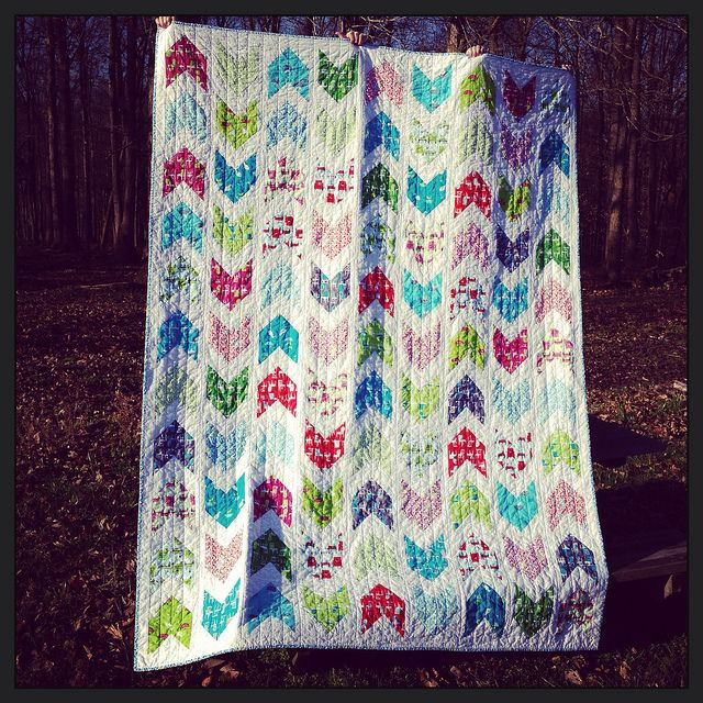 Pow Wow quilt | LOVE arrows!