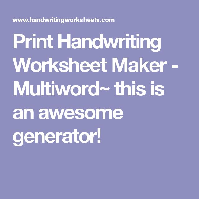 Worksheets Handwriting Worksheet Generator the 25 best ideas about handwriting worksheet maker on pinterest cursive text generator free name and kids learning