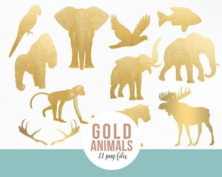 Silver Animal Bundle Moose Elephant Eagle Gorilla Monkey Etsy Animals Elephant Animal Birthday