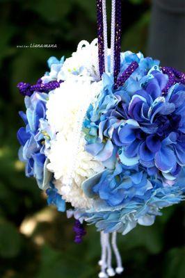 お勧め☆ アートフラワー<真っ青な和装ボールブーケ> | ウェディング ... 先日ご紹介した、アートフラワー<和装ボールブーケ>