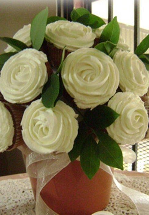 ¡Checa como hacer un precioso bouquet de cupcakes! #Reposteria