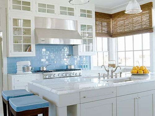 Blue Kitchen White Cabinets 139 best kitchen images on pinterest | dream kitchens, home and