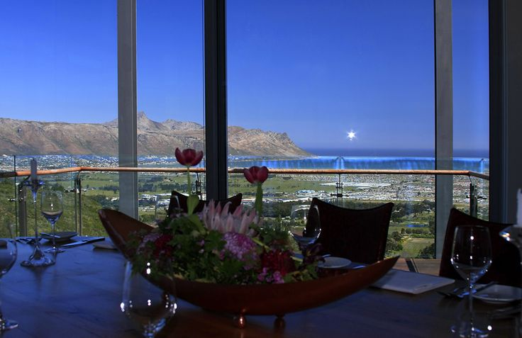 Who can't resist such a view? Table @ Waterkloof, #CapeWinelands
